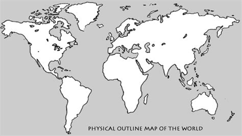 blank world physical map physical outline map of the world