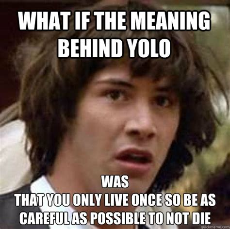 Meme Live - what if the meaning behind yolo was that you only live