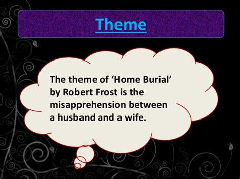 critical analysis of the poem home burial