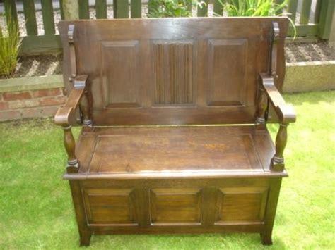 antique oak settle bench antique oak monks bench hall seat settle 171042