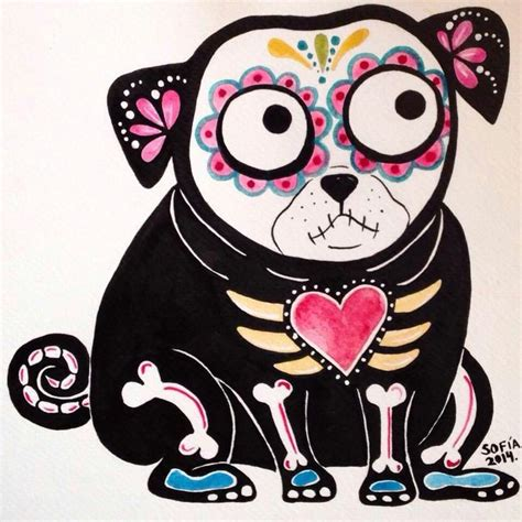 sugar skull pug 3851 best images about pug on
