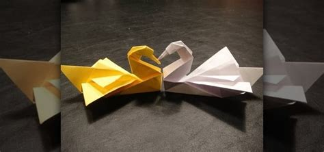 Origami Swan Folding - how to fold an origami swan by robert j lang