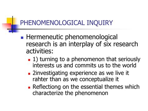 writing in the phenomenological studies in interpretive inquiry books ppt what is phenomenological research powerpoint