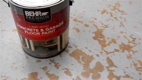 behr concrete  garage floor paint problems
