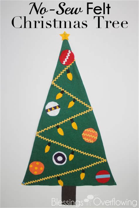 no sew felt christmas tree