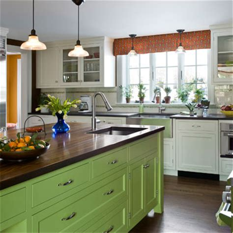 green kitchen island bold green editors picks our favorite green kitchens