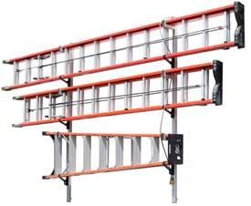 84 1 2 quot 3 ladder wall mount ladder rack vertirack