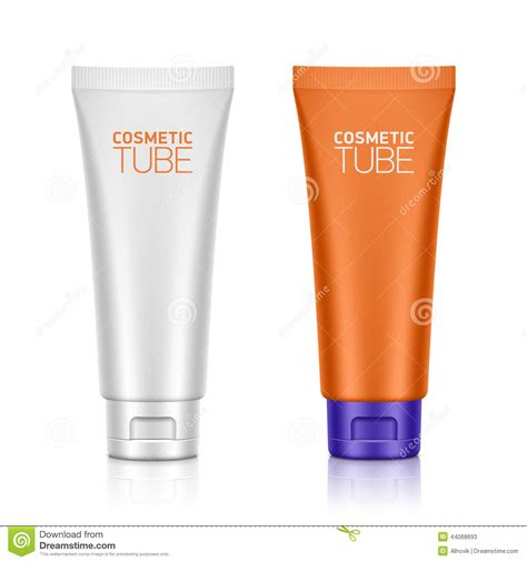 cosmetic packaging plastic tube stock vector image