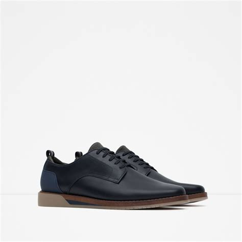 zara shoes for zara casual shoes with contrast sole in blue for lyst