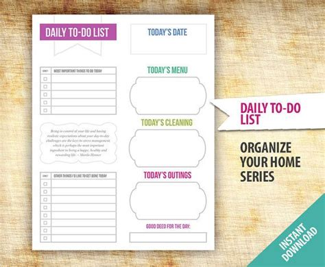 daily to do list excel template project management