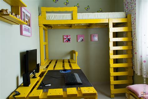 pallet loft bed pallet loft bed on pinterest lofted beds pallet bunk