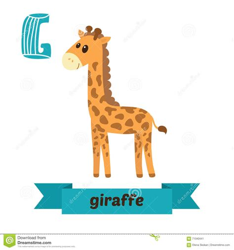 imagenes de jirafas en ingles jirafa letra de g alfabeto animal de los ni 241 os lindos en