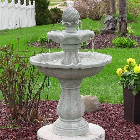 solar powered 2 tier bird bath water fountain