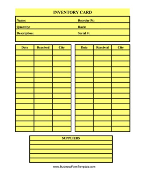 inventory bin card excel template inventory card template template
