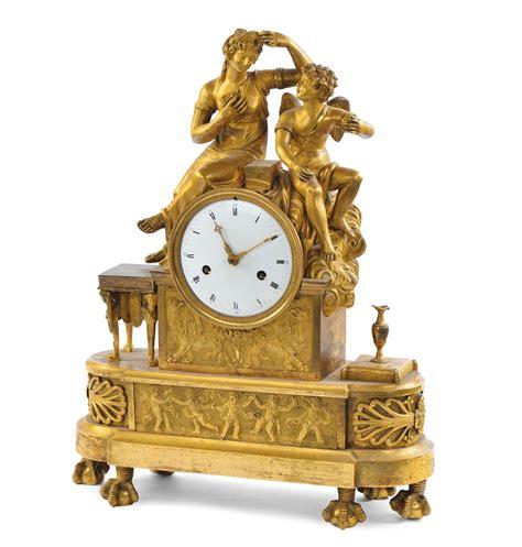 pendole da tavolo pendola da tavolo in bronzo dorato al mercurio