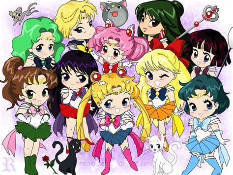 Sailor Moon Characters Chibi wallpaper.
