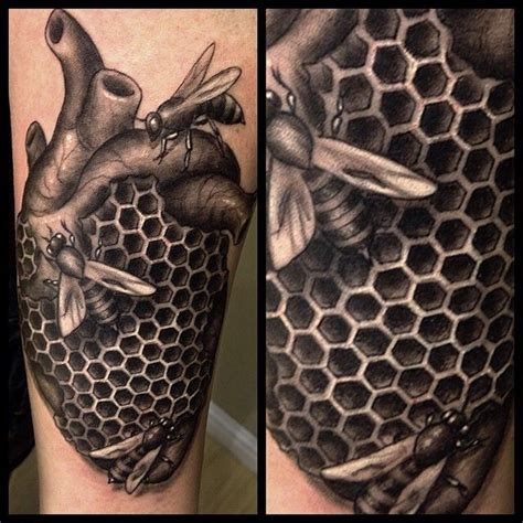 geometric honeycomb tattoo www pixshark com images