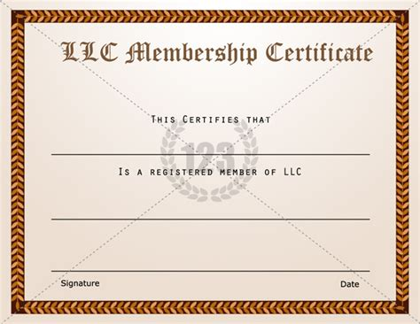 membership certificate templates best quality llc free