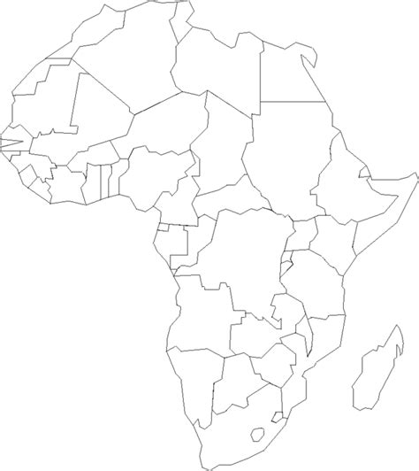 map of africa coloring page az coloring pages