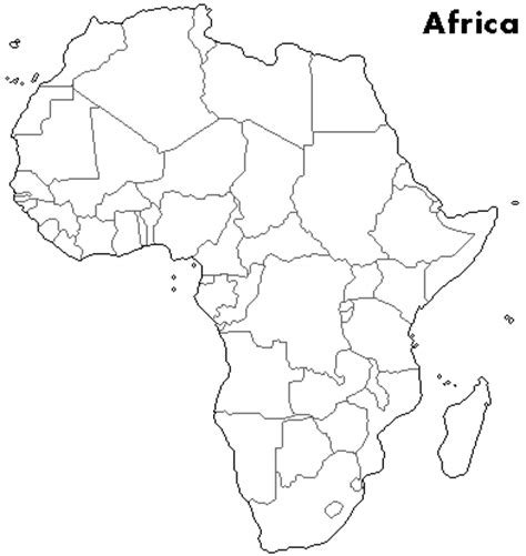 africa map blank outline maps
