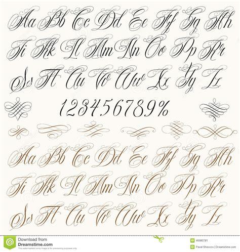 lettere da tatuare lettres de tatouage illustration de vecteur image 46980781