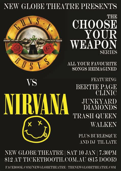 Vs Nirvana tickets for guns n roses vs nirvana in fortitude valley