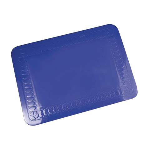 Blue Rubber Mat by Tenura Blue Silicone Rubber Anti Slip Rectangular Mat 25 5