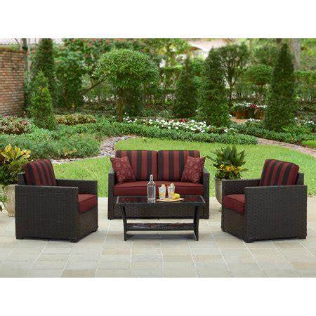 walmart better homes and gardens furniture better homes and gardens valley 4 outdoor conversation set walmart