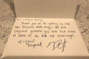sle thank you note for wedding gifts kris bryant is sending thank you notes to fans who sent him wedding gifts wrigleyville