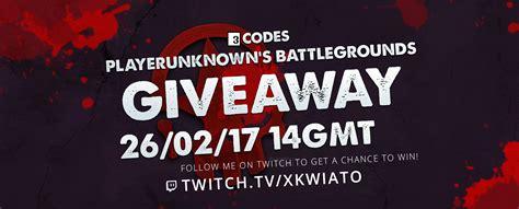 Playerunknown S Battlegrounds Giveaway - 3 codes for playerunknown s battlegrounds to giveaway https www twitch tv xkwiato