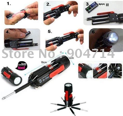 Set Obeng 8 In 1 Multi Screwdriver Tools Obeng Serbaguna Multifungsi 1 8 in one screwdrivers with powerful torch multi screwdriver torch multi function screwdriver