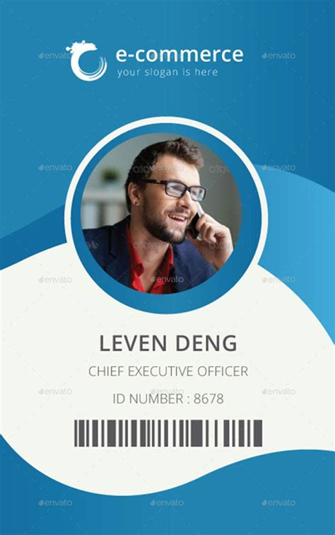 corporate id card template template for identification card id badge
