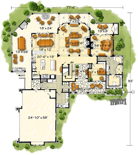 Farmhouse Houseplans the house designers america s best house plans