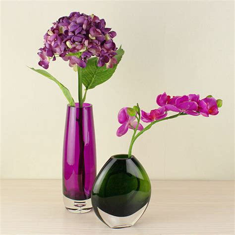 simple modern green and purple glass vase fashion