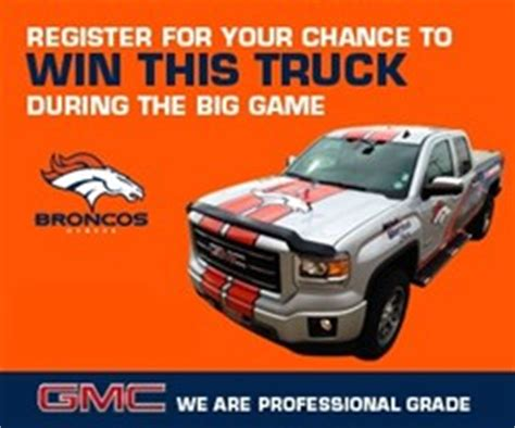 Gmc Truck Sweepstakes - weld county garage buick gmc to give away 2014 gmc sierra broncos truck if the denver