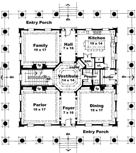 greek revival floor plans greek revival style house plans 4500 square foot home