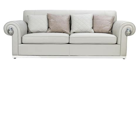 empire style sofa dreamfurniture com off white empire style leather sofa