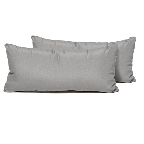 Grey Outdoor Pillows by Tk Classics Grey Outdoor Throw Pillows Rectangle Set Of 2
