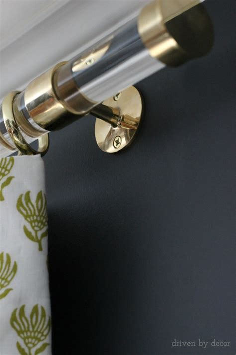 Large Curtain Rings Acrylic Curtain Rods With Brass Hardware Driven By Decor