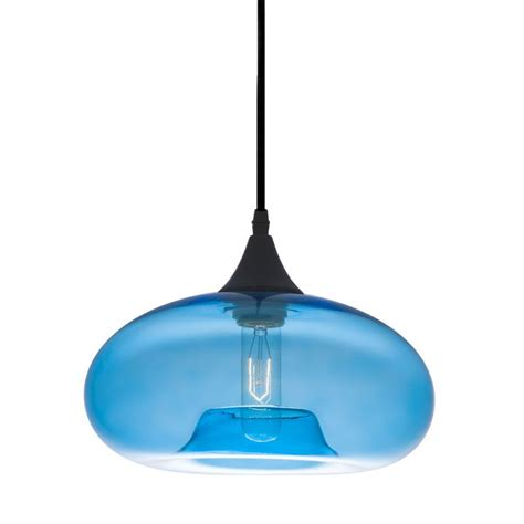 Blue Pendant Light by Bonita Light Pendant In Blue Tint