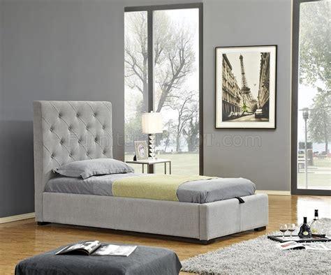Prague Upholstered Kids Storage Bed In Light Grey Fabrc By J M Prague Bedroom Furniture