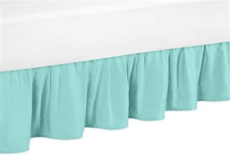 turquoise bed skirt solid turquoise toddler bed skirt for skylar kids