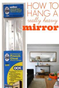 hanging heavy pictures without nails how to hang a heavy mirror c r a f t