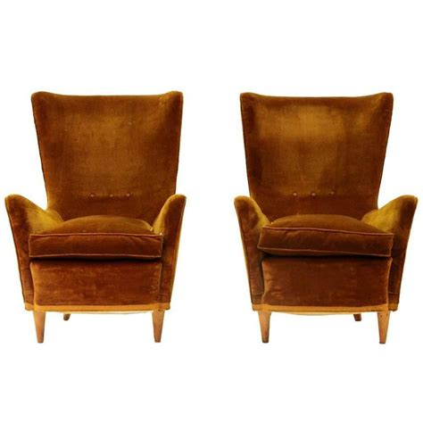 Brown Armchairs by Set Of Two Mid Century Italian Brown Armchairs 1950s At