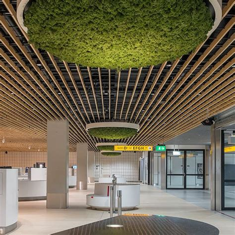 wood grid ceiling wooden suspended ceiling panel grill grid
