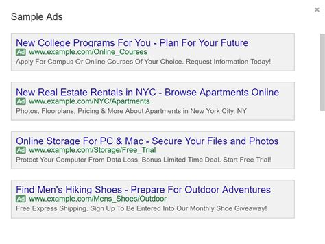 Google Has Updated The Adwords Ad Preview Tool For Expanded Text Ads Expanded Text Ads Template