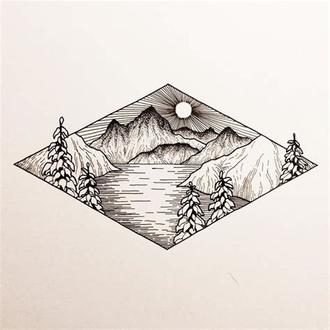 Drawing Mountains by Best 25 Mountain Drawing Ideas On Mountain