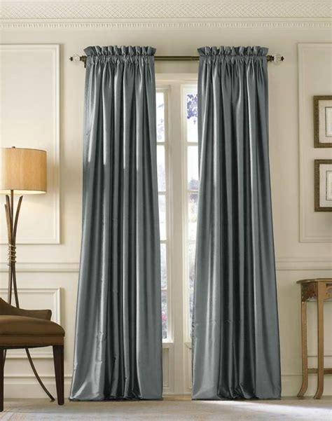contemporary drapes and curtains blue silk long curtains decoist