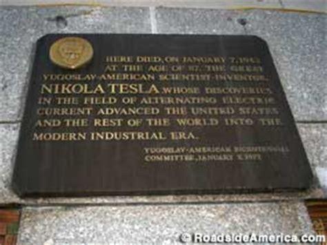 Tesla Died Nikola Tesla Died Here New York New York