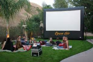 silver screen outdoor events affordable inflatable movie screen rental mobile movie screen